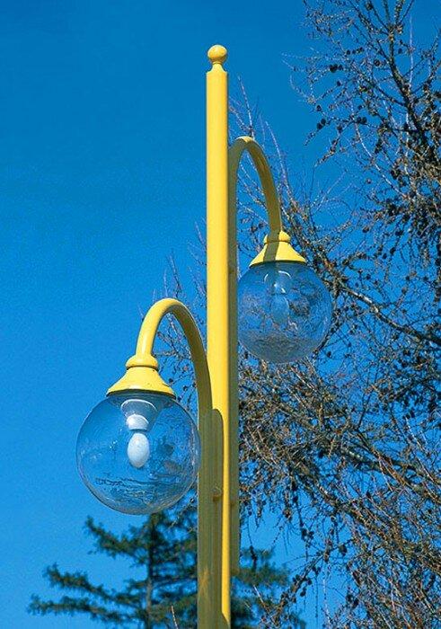 latarnia współczesna uliczna parkowa kula