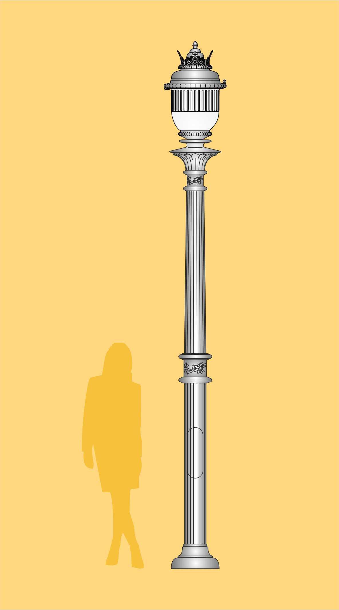 ekskluzywna latarnia, stylowa latarnia. oprawa LED