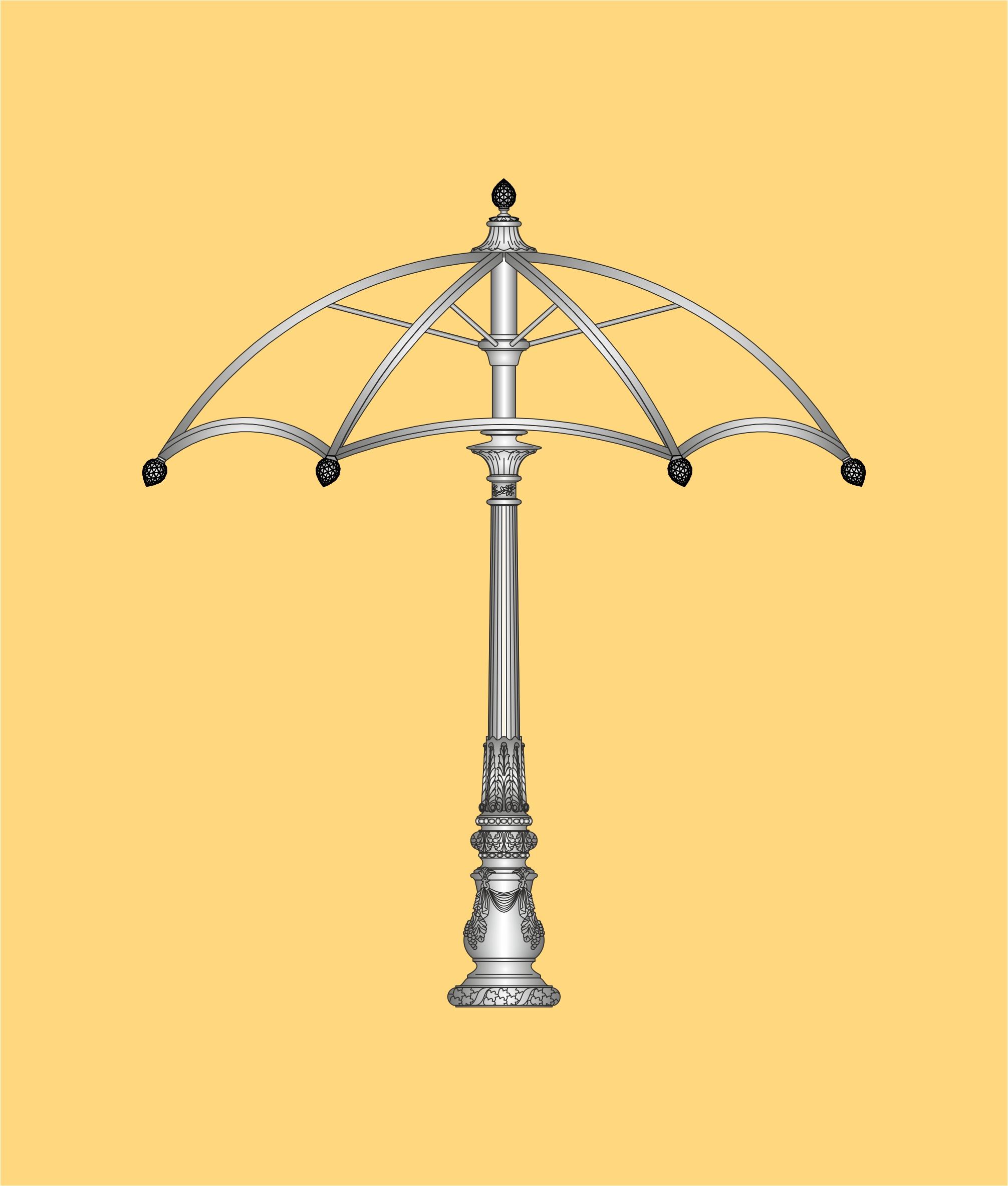 ekskluzywna altana, parasol ogrodowy, parasol ozdobny
